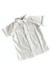 Camisa Branca Infantil Manga Curta