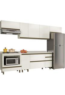 Cozinha Completa 100% Mdf Vicenza K110 Off White