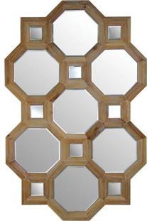 Espelho De Madeira Bisotado 120Cm X 78Cm