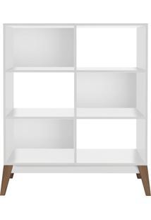 Livreiro Baixo Branco-Brilho Genialflex Móveis