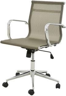 Cadeira Sevilha Eames Baixa Cromada Tela Dourada - 38051 - Sun House