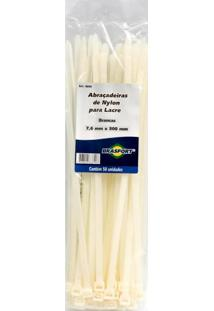Abraçadeira Nylon 2,5 X 100Mm Branco Brasfort