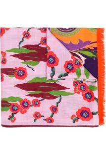 Etro Echarpe Com Estampa Floral E Paisley - Rosa