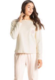 Pijama Longo Listrado Sandra