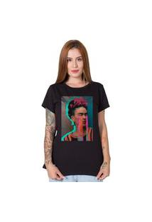 Camiseta Stoned Frida Kahlo Preta