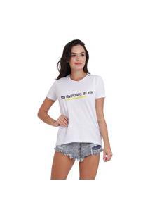 Camiseta Jay Jay Basica Too Complicated Branca Dtg