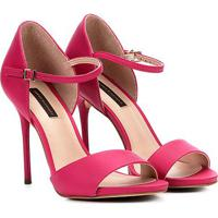e3245e3dfc Sandália Jorge Bischoff Salto Fino Meia Pata Nobuck Feminina - Feminino-Pink