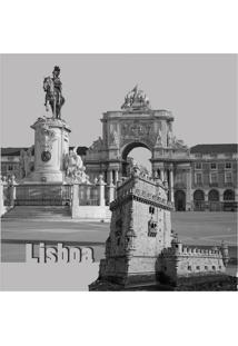 Quadro Impressão Digital Lisboa 30X30