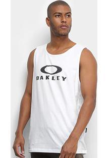 Regata Oakley Bark Masculina - Masculino-Branco