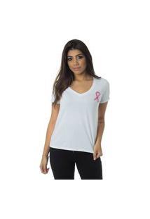 T-Shirt Daniela Cristina Outubro Rosa 602Dc10333 Branco