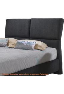 Cabeceira Super Confort Zevi Preta Casal 1,60 Mt (Larg) -49427 - Sun House