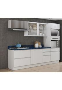 Cozinha Compacta Bbb 7 Pt 6 Gv Branca E Azul