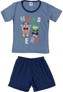 Pijama Infantil Para Menino - Azul