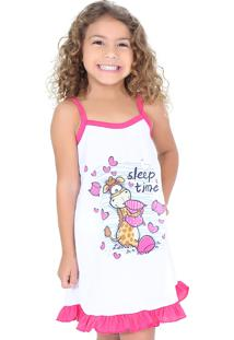 Camisola Linha Noite Infantil Pink