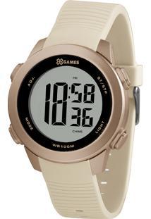 Relógio Digital X Games Feminino - Xfppd081 Bege Claro