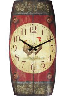 Relógio Kasa Ideia De Parede Galo