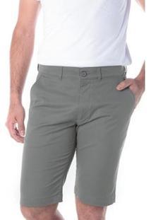 Bermuda Traymon Sarja Chino Slim Masculina - Masculino-Cinza