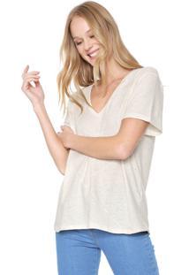Camiseta Colcci Básica Bege