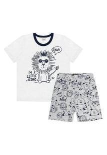 Pijama Infantil Rovitex Leão Cinza