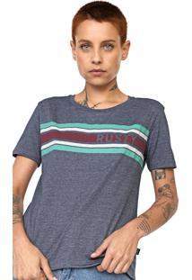 Camiseta Rusty Strippy Azul-Marinho