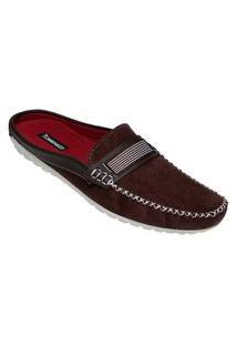 Sapato Mule Masculino Estilo Shoes Db110 Café