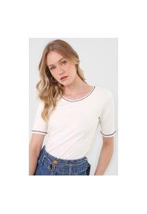 Camiseta Mob Pespontos Off-White