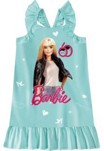 Vestido Barbie® Com Babados Menina Malwee Kids
