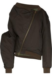 Y/Project Upside-Down-Look Bomber Jacket - Verde