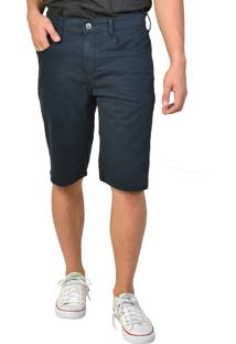 Bermuda Jeans Slim Escura Yck'S Azul Marinho - Kanui
