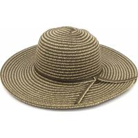 Chapéu De Praia Floppy Listras Marrom - Feminino-Marrom bfae7f95ed4