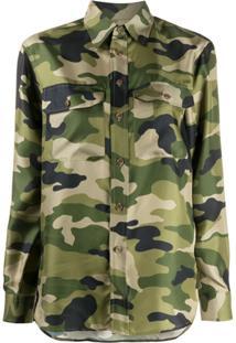 Polo Ralph Lauren Camisa Com Estampa Camuflada - Verde