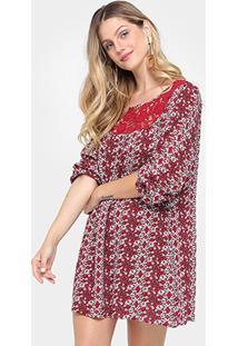 Vestido Lily Fashion Mullet Curto Rendado - Feminino