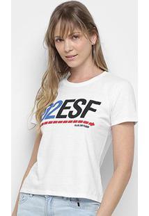 Camiseta Ellus 2Nd Floor Logo Retrô Feminina - Feminino