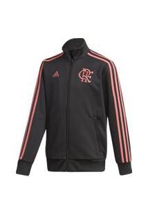 Jaqueta Adidas Flamengo Casual Infantil - Preto E Rosa