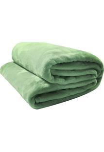 Cobertor Camesa Velour De Microfibra Neo 300G Queen Verde