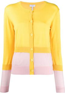 Escada Sport Layered Colour-Block Cardigan - Amarelo