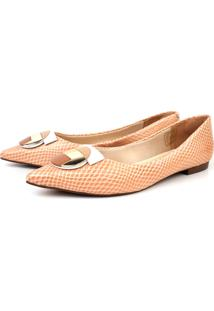 Sapatilha Trivalle Shoes Mini Snake Camélia
