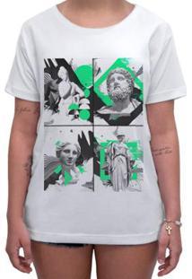 Camiseta Impermanence Estampada Estatua Feminina - Feminino