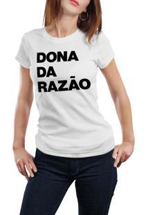 Camiseta Hunter Dona Da Razão Branca
