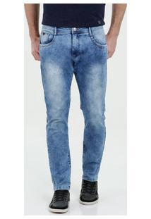 Calça Masculina Jeans Slim Strech Marisa