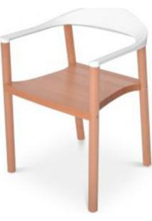 Cadeira Wood Falkk Fl-002 Branca