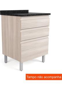 Balcão Para Cozinha Belíssima Plus3 Gv Saara Wood