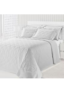 Colcha Matelasse-Royal Comfort-King-03 Pçs-Branco