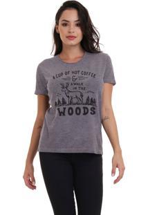 Camiseta Feminina Jay Jay Woods Chumbo - Kanui