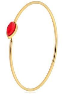 Pulseira Toque De Joia Bracelete Fio Navete - Feminino-Dourado