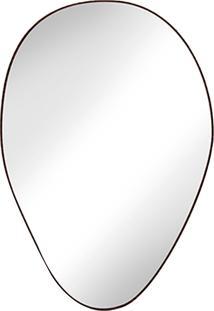 Espelho Tronco Especial - Louro Escuro - Cristal Liso