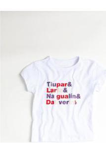 Camiseta Tiupar Reserva Mini Feminina - Feminino-Branco