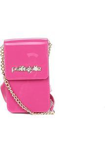 Porta Celular Petite Jolie Glitter - Feminino-Pink