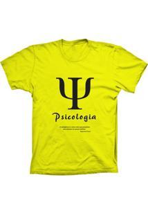 Camiseta Baby Look Lu Geek Psicologia Amarelo