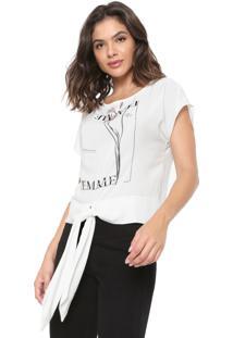 Camiseta Morena Rosa Amarração Off-White